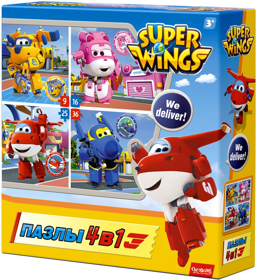 Super Wings Пазл для малышей Любимые герои 4 в 1