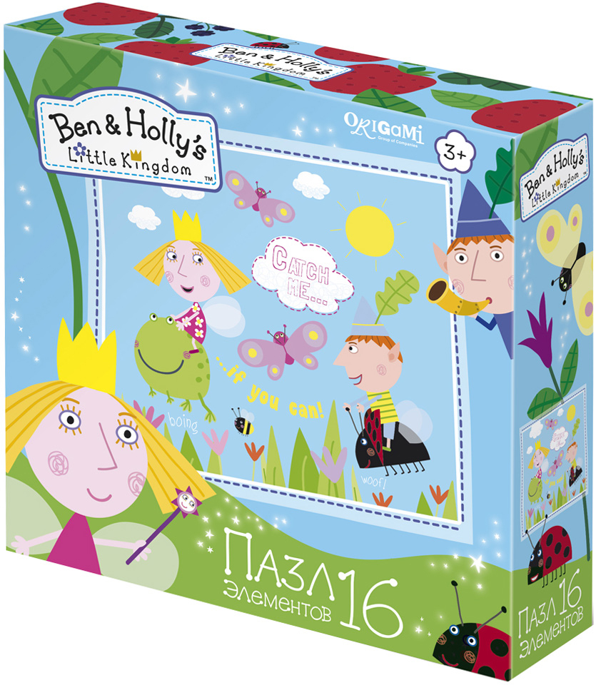 Ben&Holly Пазл для малышей Полетели! пазл 4в1 в королевстве ben