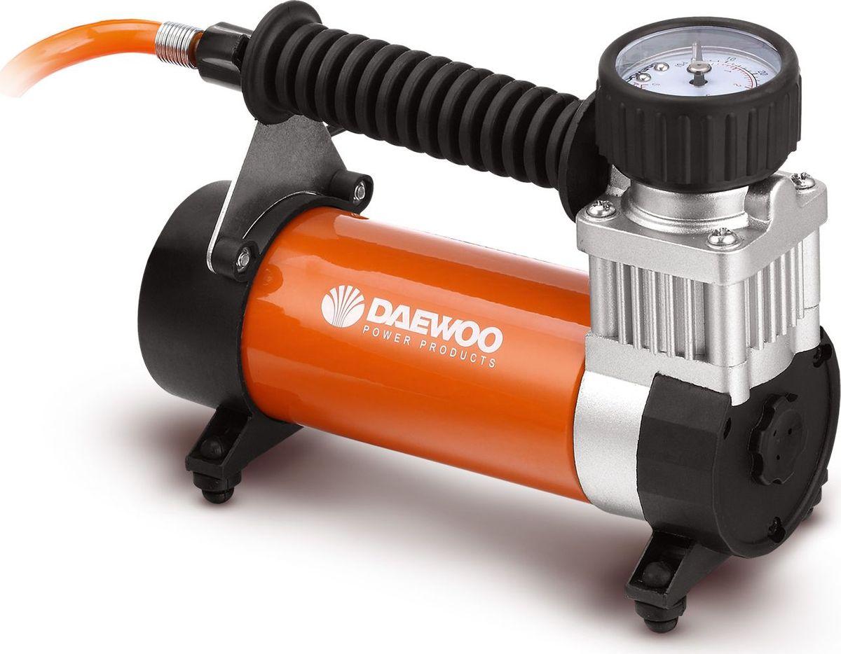 Компрессор автомобильный Daewoo, с ремкомплектом, 50 л/минDW55 PLUSРемкомплект: Отвёртка 2 шт., Плоскогубцы, Перчатки, Нож универсальный, Ремкомплект для колёс Кейс пластиковый
