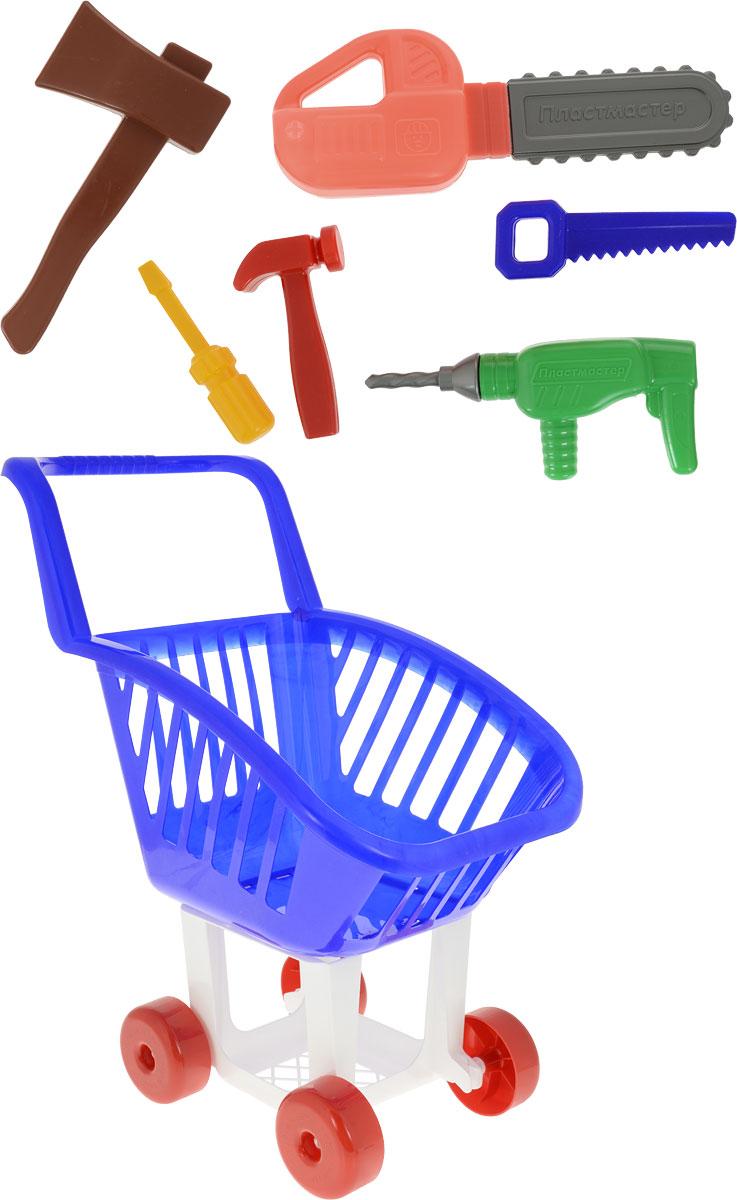 Пластмастер Игровой набор Строймаркет цвет синий белый пластмастер игровой набор кто в доме хозяин
