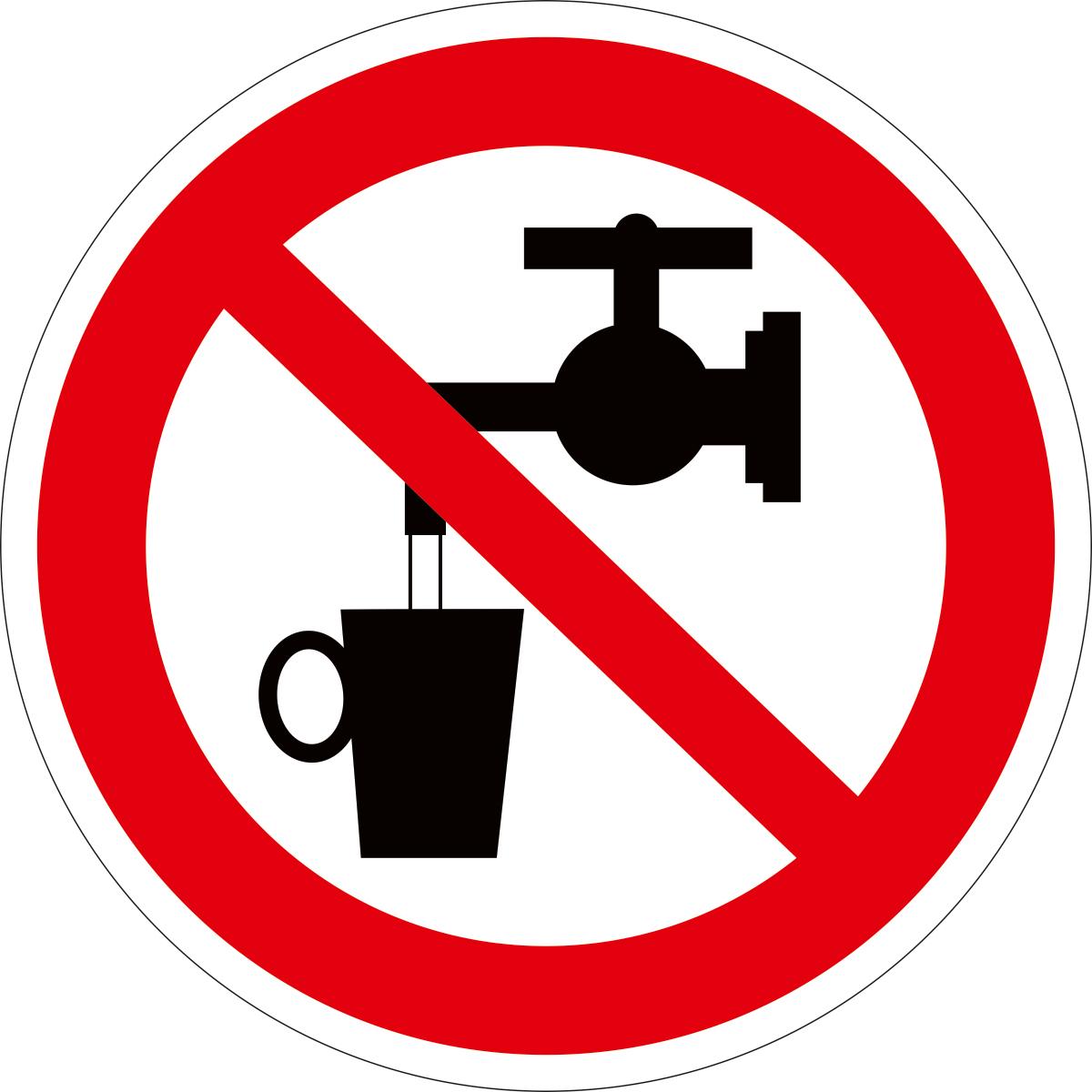 Наклейка информационная Оранжевый Слоник Запрещается использовать в качестве питьевой воды, 15 х 15 см оранжевый слоник виниловая наклейка баскет2