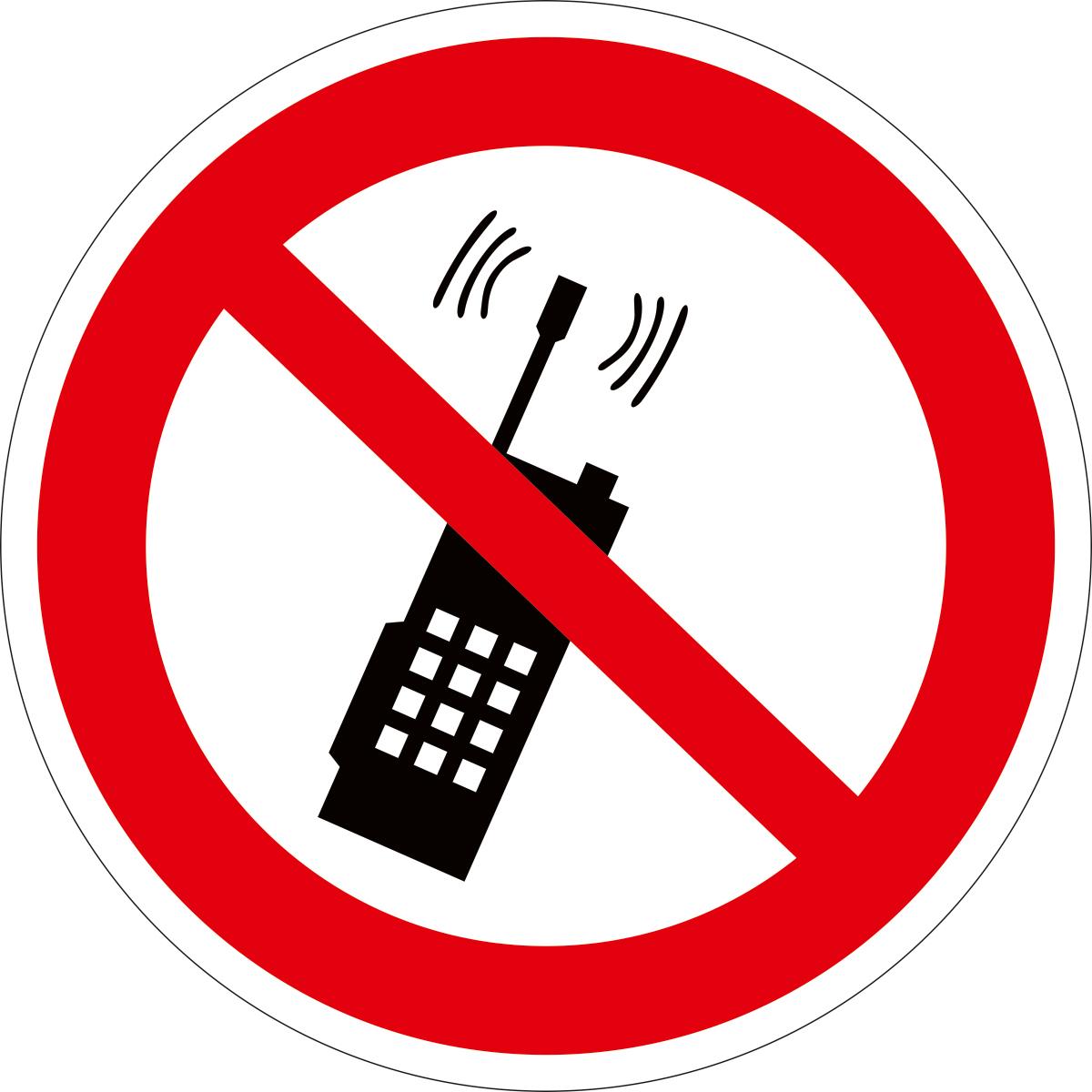 Наклейка информационная Оранжевый Слоник Запрещается пользоваться мобильным телефоном, 15 х 15 см таблички информационные оранжевый слоник наклейка информационная место для мусора 2 шт