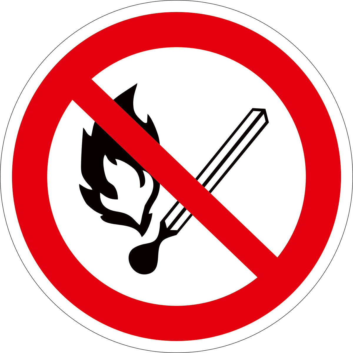Наклейка информационная Оранжевый Слоник Запрещается пользоваться открытым огнем и курить, 15 х 15 см оранжевый слоник виниловая наклейка бокс перчатки