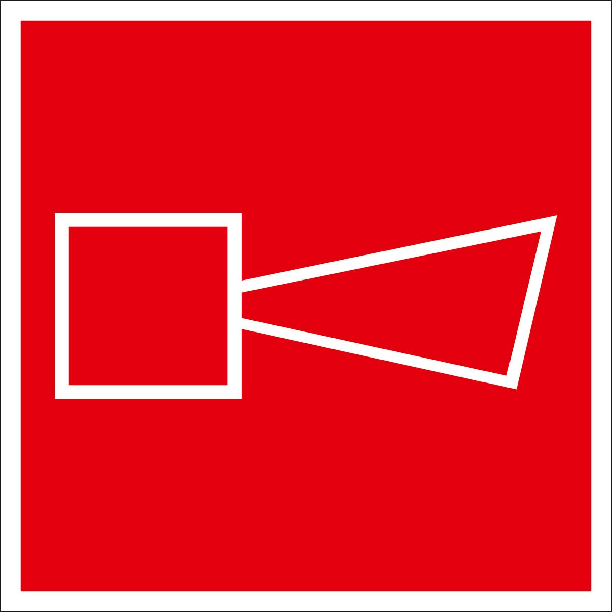 Наклейка информационная Оранжевый Слоник Звуковой оповещатель пожарной тревоги, 15 х 15 см