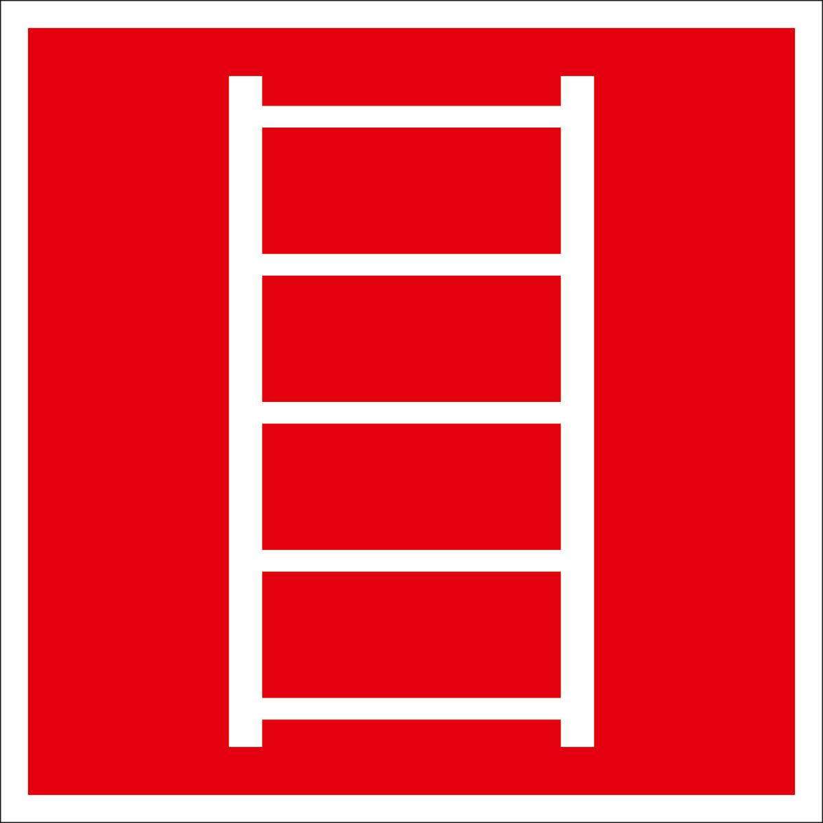 Наклейка информационная Оранжевый Слоник Пожарная лестница, 15 х 15 см