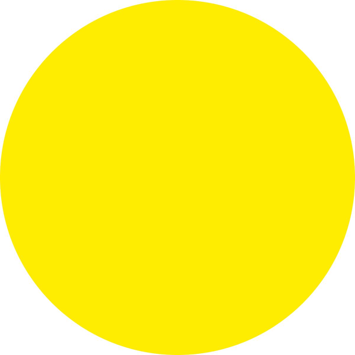 Наклейка информационная Оранжевый Слоник Желтый круг, для слабовидящих, 15 х 15 см