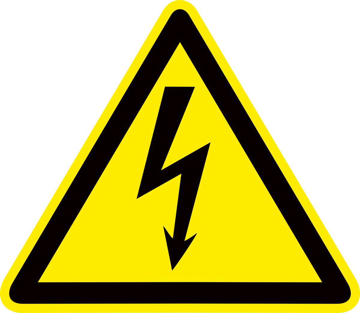 Наклейка информационная Оранжевый Слоник Опасность поражения электрическим током, 15 х 15 см