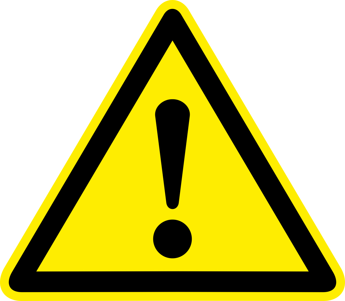 Наклейка информационная Оранжевый Слоник Внимание. Опасность. Прочие опасности, 15 х 15 см