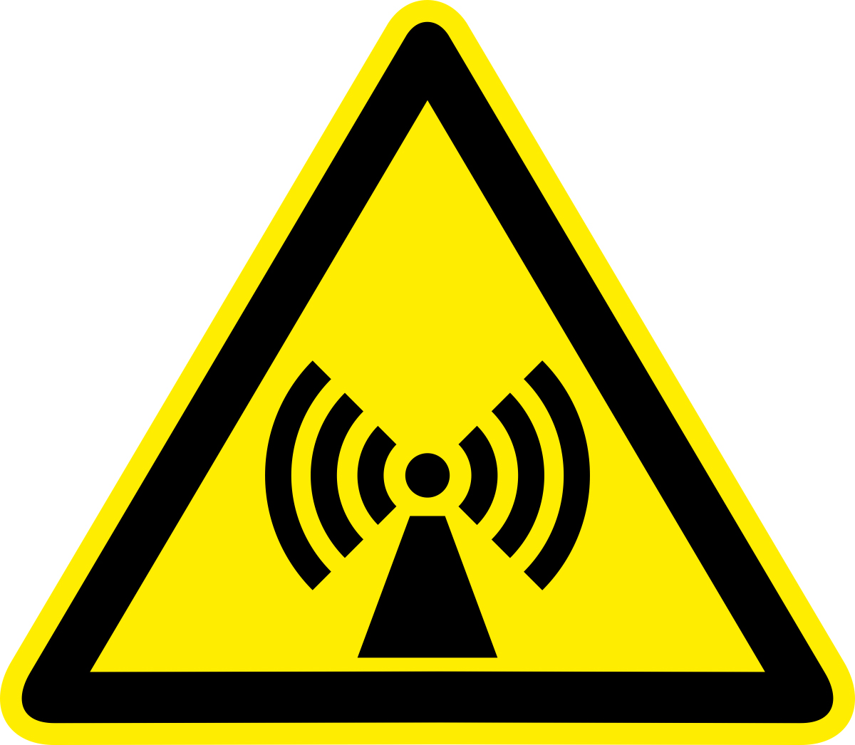 Наклейка информационная Оранжевый Слоник Внимание. Электромагнитное поле, 15 х 15 см