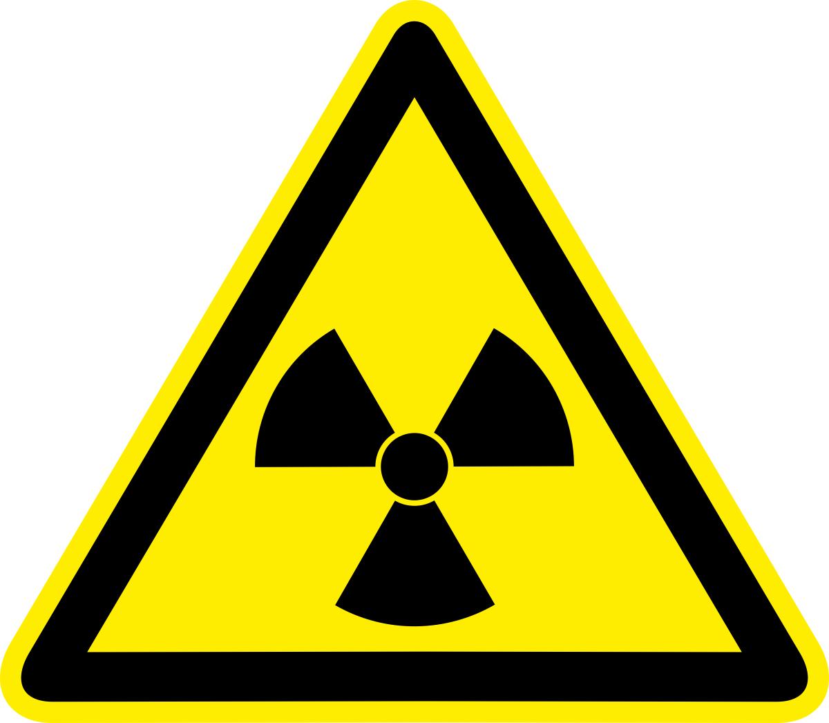 Наклейка информационная Оранжевый Слоник Опасно. Радиоактивные вещества, 15 х 15 см