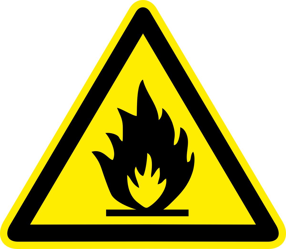 Наклейка информационная Оранжевый Слоник Пожароопасно. Легковоспламеняющиеся вещества, 15 х 15 см оранжевый слоник виниловая наклейка бокс перчатки