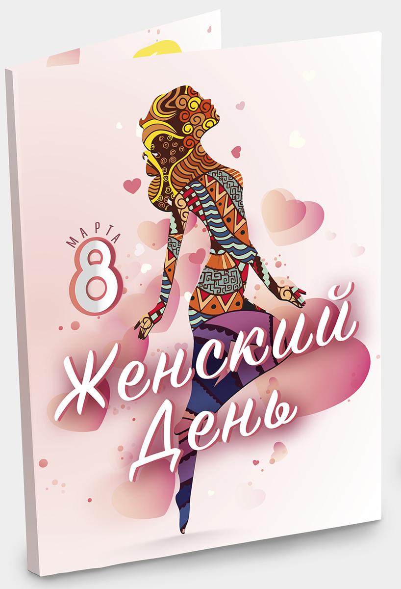 Chokocat 8 марта женский день открытка, 20 г chokocat спасибо молочный шоколад 60 г