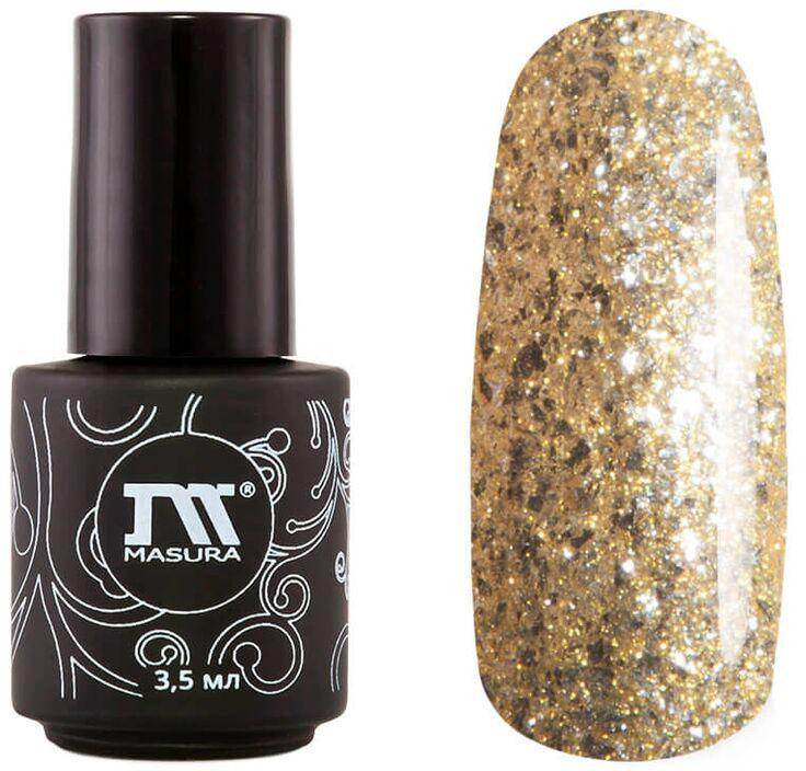 Masura Гель-лак Солнечный Ветер, 3,5 мл294-377MЖелтое золото с серебристыми хлопьями, насыщенный мерцающими инди-частицами, плотный