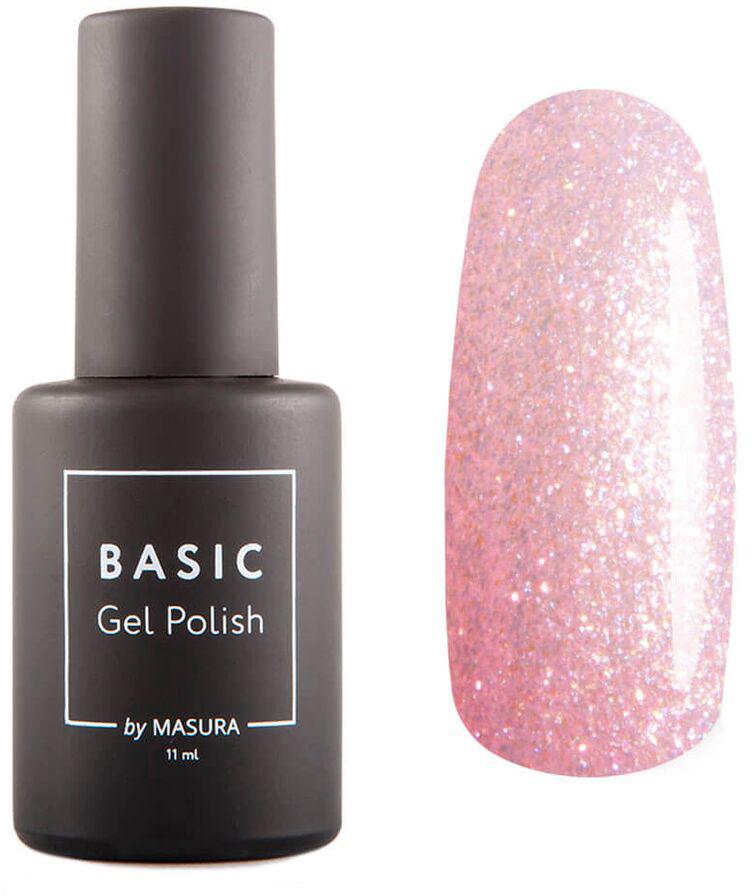 Masura Гель-лак BASIC Аликорн, 11 мл294-395SСверкающий светло-розовый с жемчужным сиянием, плотный