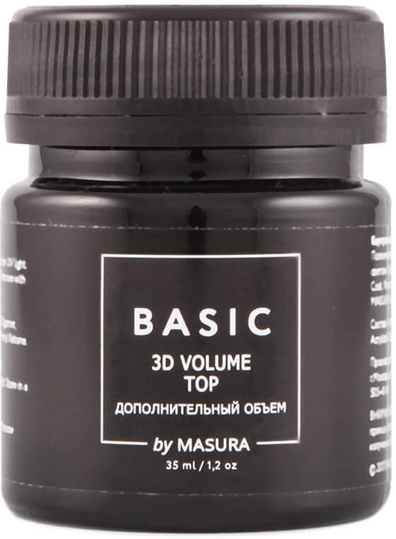 Masura Гель-лак BASIC Топ с 3D эффектом, 35 мл298-40SГель-лак топ с 3D эффектом Basic by Masura. Придает дополнительный объем и глубину гель-лакам эффектам и цветным гель-лакам, выравнивает цветное покрытие.