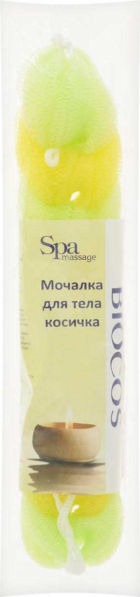 BioCos Мочалка для тела Косичка, цвет: желтый, салатовый5955_желтый, салатовыйМочалка для тела BioCos Косичка обладает тонизирующим эффектом. Подходит для ежедневного применения. Деликатно и нежно очищает кожу, легко вспенивает даже небольшое количество геля или мыла. Обладает приятным отшелушивающим эффектом, мочалка массирует кожу, снимая усталость и напряжение. Служит долго, сохраняя свою первоначальную форму.Перед использованием размочить в горячей воде. После применения тщательно промыть под струей воды и высушить.Состав: безузловая сетка.