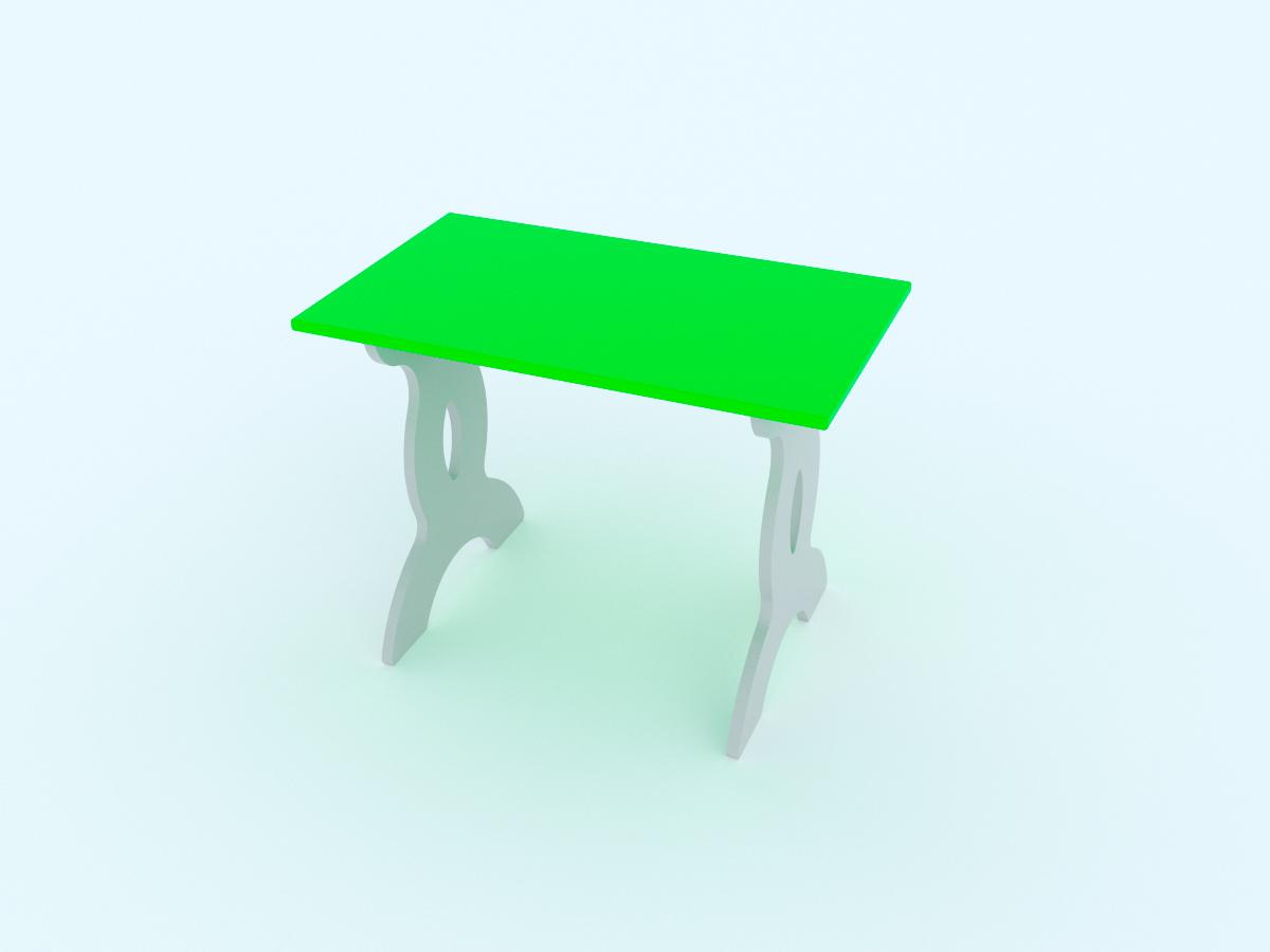 Малина Стол детский Чудо-столик цвет зеленый