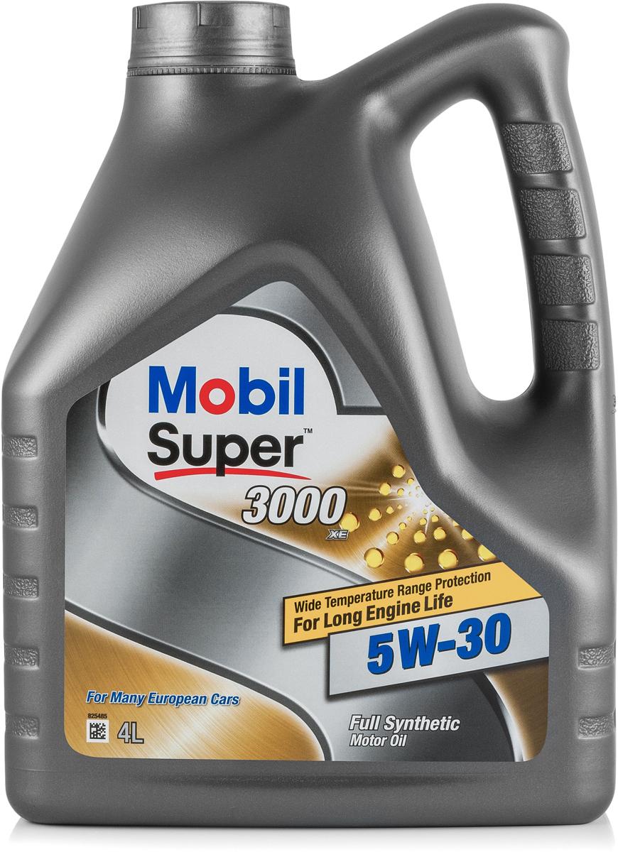 Моторное масло Mobil Super 3000 XE, 5W-30, 4 л153018Mobil Super (ТМ) 3000 XE 5W-30 - синтетическое малозольное моторное масло, разработанное с целью продления срока службы и сохранения эффективности систем снижения выбросов вредных веществ с выхлопными газами автомобилей как с дизельными, так и с бензиновыми двигателями.• Обеспечивает работу при повышенной температуре без загущения от окисления и без разложения масла • Обеспечивает легкость запуска и быструю циркуляцию масла в двигателе в зимних условиях • Пригодно для применения в бензиновых или дизельных двигателях легковых и малотоннажных грузовых автомобилейСертификации и одобрения -ACEA C3 -Ford WSS-M2C917-A-General Motors (сервисное обслуживание) dexos2 (license number GB1A0914015) -BMW Longlife 04 -MB-Approval 229.31 / 229.51 / 229.52 -Volkswagen 502 00 / 505 00 / 505 01