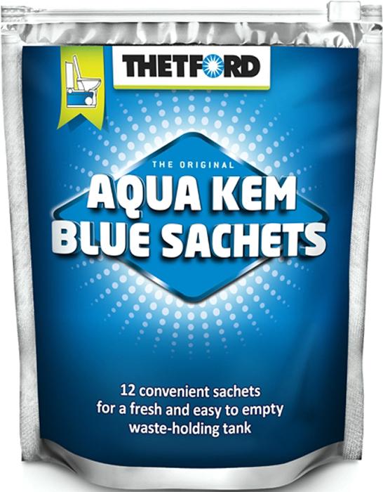 Порошок для септиков и биотуалетов Thetford, для биотуалета Aqua Kem Blue Sach, 12 шт жидкость для биотуалета thetford aqua rinse plus в верхний бак розовая объём 1 5л