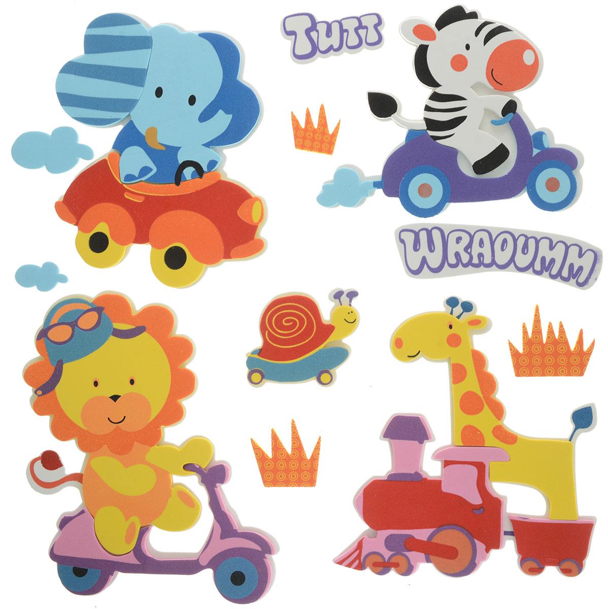 Room Decor Наклейка интерьерная Детские картинки Слон на машине 12 шт1123361_слон на машинеRoom Decor Детские картинки - это набор объемных интерьерных наклеек на все случаи жизни!Украшение мебели, сокрытие царапины на стене или даже декор для скрапбукинга - наклейка станет идеальным вариантом. Не стоит искать дорогостоящие наборы для творчества, инструменты, чтобы убрать скол или шероховатость с поверхности любимого шкафа или стола, когда под рукой имеется подобное изделие. Ведь всего пара движений, и ваша задумка уже перед вами!Не ограничивайте свою фантазию!Применение подобных наклеек не вызовет сложностей: быстро крепятся и убираются, при этом не оставляют следов. Привнесите оригинальные нотки в ваш интерьер, придайте яркую индивидуальность каждой частичке вашего окружения!