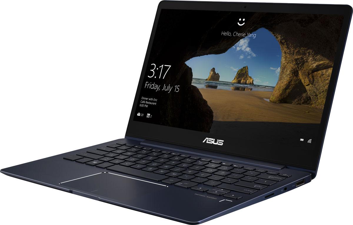ASUS ZenBook 13 UX331UN, Royal Blue (UX331UN-EA102T)UX331UN-EA102TASUS ZenBook 13 UX331UN - это элегантность и стильный дизайн, которые вы привыкли ожидать от ультрабуковсерии ZenBook, дополненные новыми, яркими деталями, такими как ослепительная отделка, напоминающаямерцающую поверхность кристалла. Данная модель является самой тонкой среди всех ультрабуков, оснащенныхдискретной видеокартой, поэтому она представляет собой идеальную мобильную платформу для креативнойработы и ярких развлечений. Редактируйте видео и фотографии, наслаждайтесь любимыми фильмами и играми- все это доступно с быстрым, тонким и легким ультрабуком ZenBook 13 UX331UN!ZenBook 13 UX331UN - это по-настоящему мобильное устройство, которое легко можно взять с собой в любоепутешествие. Его вес составляет всего 1,12 кг, а толщина корпуса - 13,9 мм. Благодаря дисплею NanoEdge сузкой экранной рамкой он компактнее, чем обычные 13-дюймовые ноутбуки. Чтобы предложить своему пользователю максимально большое экранное пространство в как можно болеекомпактном корпусе, данный ультрабук обладает сенсорным дисплеем NanoEdge, отличительнойособенностью которого является невероятно тонкая рамка (6,86 мм), что обеспечивает увеличеннуюотносительную площадь - 80% от размера крышки. В результате, 13,3-дюймовый дисплей помещается в корпус,который меньше, чем у многих 13-дюймовых моделей. Помимо компактности он может похвастать высокимразрешением (4K/Ultra HD) и широкими углами обзора (178°). Дисплей ZenBook 13 UX331UN обладает в два раза большим разрешением как по вертикали, так и погоризонтали по сравнению со стандартными дисплеями формата Full HD, а это означает невероятно высокуюпиксельную плотность - 332 пикселя на дюйм! В результате любые фотографии и видеоролики, снятые свысоким разрешением, будут выглядеть на экране этого ультрабука невероятно четко. Кроме того, дисплейможет похвастать расширенным цветовым охватом и способен отображать 100% оттенков цветовогопространства sRGB.ZenBook 13 UX331UN оснащается видеока