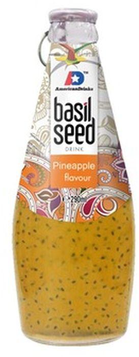 Bazil Seed Pineapple напиток безалкогольный со вкусом ананаса и семенами базилика, 290 мл оливки черные lelia трубес вяленые с косточкой в оливковом масле 150 г