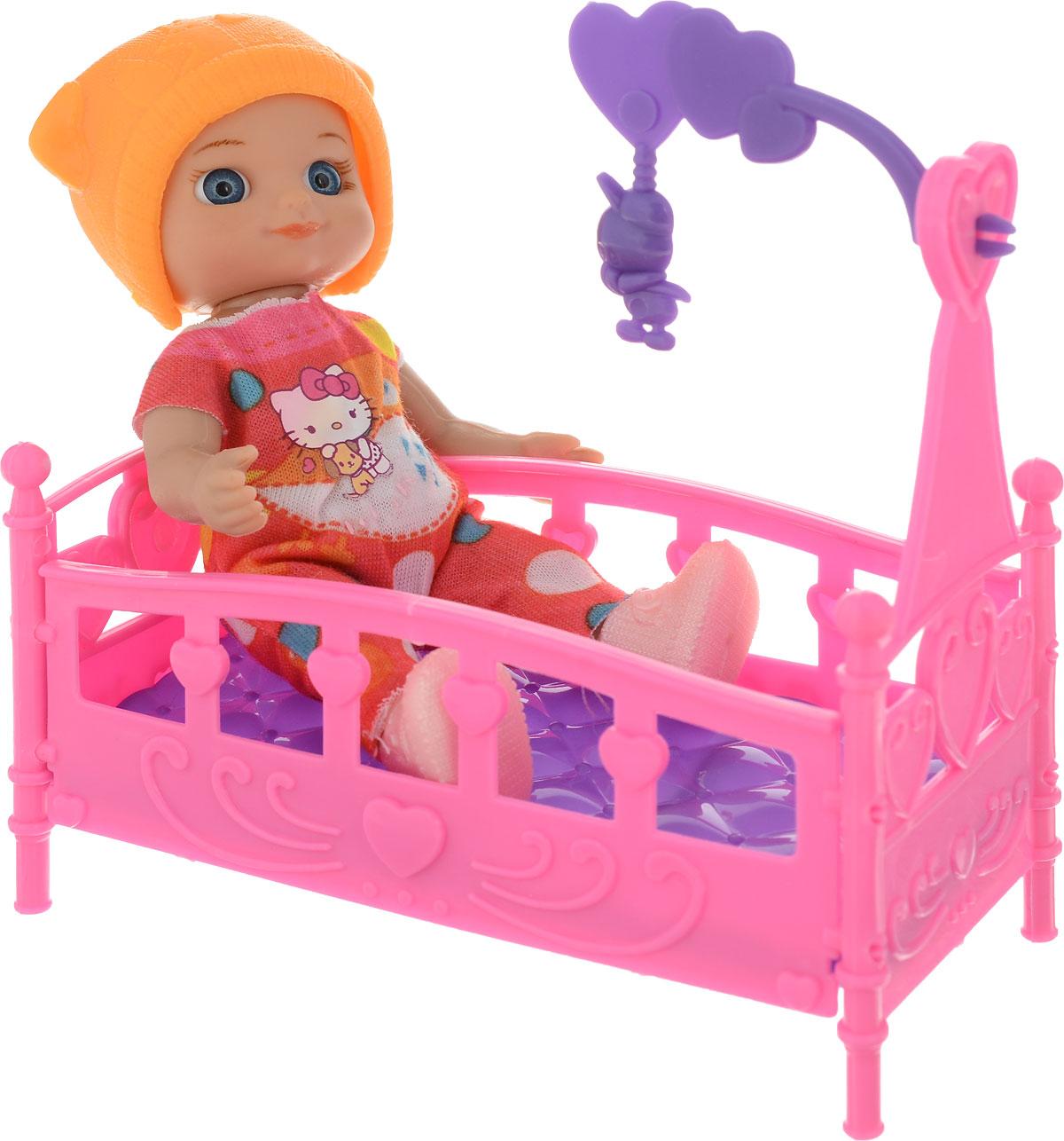 Карапуз Мини-кукла Моя подружка Машенька Сладкие сны в оранжевой шапке и комбинезоне куклы карапуз кукла модная подружка