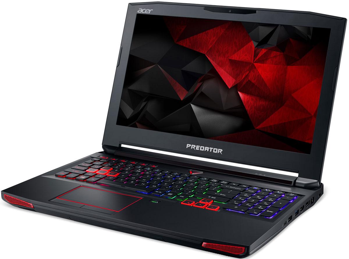 Acer Predator 15 G9-593-797Q, BlackG9-593-797QВпечатляющая мощность и превосходный стиль - все это в одном ноутбуке. Острые и агрессивные чертынапоминают космические крейсеры, а выхлопные отверстия сзади дополняют агрессивный дизайн ноутбуку.Acer Predator 15 G9-593 оснащен высокотехнологичным аппаратным обеспечением и инновационной системойохлаждения. В аппаратную конфигурацию ноутбука входит процессор Intel Core i7 седьмого поколения, оперативная памятьDDR4 и дискретная видеокарта NVIDIA GeForce GTX 1070. Мощные компоненты обеспечивают высокую скоростьв современных играх и тяжелых приложениях, например при редактировании видео.Легко обжечься в пылу настоящей битвы. Сохраняйте хладнокровие благодаря усовершенствованнойтехнологии охлаждения. Cooler Master поможет снизить температуру и повысить производительность. Арешение Predator FrostCore пригодится вам во время жарких игровых баталий.Отсутствие задержек при подключении зачастую решает исход сетевых поединков. Управляйте подключениемк Интернету с помощью технологии Killer DoubleShot Pro. Эта технология позволяет выбрать, какие приложениямогут получить доступ к драгоценной пропускной способности. И самое главное - она позволяетиспользовать для доступа в Интернет проводные и беспроводные подключения одновременно.Predator DustDefender защитит основные компоненты вашего устройства от грязи и пыли. Переменноенаправление воздушного потока и ультратонкий вентилятор толщиной всего 0,1 мм AeroBlade, полностьювыполненный из металла и отличающийся улучшенными аэродинамическими характеристиками, защититустройство от скопления пыли.Благодаря программе PredatorSense в вашем распоряжении окажутся расширенные настройки для созданияуникальной игровой атмосферы. PredatorSense предоставляет доступ к таким игровым функциям, как профилимакросов клавиатуры, позволяющие переключаться между игровой конфигурацией и регулировать подсветку.Клавиатура Predator ProZone RGB имеет настраиваемые области подсветки, для которых можно выбрать любыеи