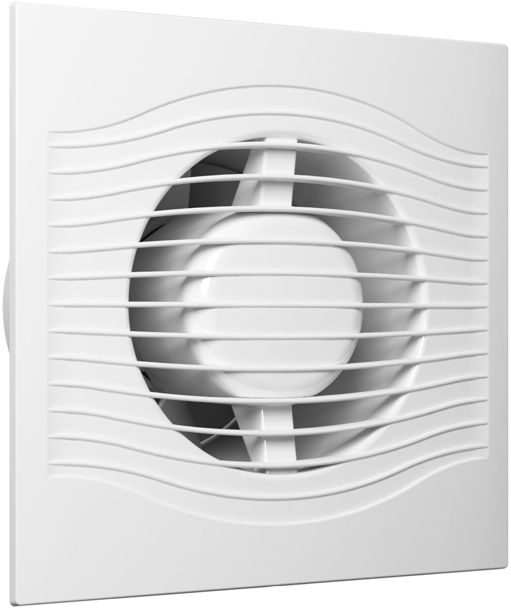 DiCiTi Slim 4C вентилятор осевой вытяжнойSLIM 4CВентилятор серии SLIM с диаметром фланца 100мм. SLIM - малошумные вентиляторы со сверхтонкой лицевой панелью. Отличается тонкой лицевой панелью, выступающей всего на 8мм от поверхности, на которой смонтирован вентилятор. Современные двигатели на шарикоподшипниках с увеличенным сроком службы (до 40 000 рабочих часов), защитой от перегрева и пониженным энергопотребление от 8 Вт обеспечат эффективную и экономичную работу, в течении всего срока службы. Лицевая панель, корпус, крыльчатка и обратный клапан изготовлены из ABS-пластика. Корпус дополнительно оборудован резиновыми вставками, обеспечивающими высокий уровень защиты электронных компонентов вентилятора от воды и пыли, имеет IP 25. Классического белого цвета. Вентилятор оснащен защитой от обратной тяги.