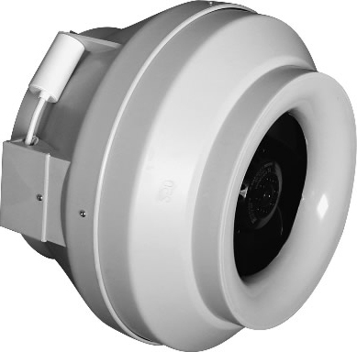 DiCiTi Cyclone-EBM 125 вентилятор центробежный канальный пластиковыйCYCLONE-EBM 125Центробежный канальный пластиковый вентилятор DiCiTi Cyclone-EBM 125 с диаметром фланца 125 мм.Вентилятор предназначен для канального монтажа с воздуховодами соответствующего диаметра в любой точкевентиляционной системы и под любым углом.Однофазный двигатель с внешним ротором оснащен центробежным рабочим колесом с назад загнутымилопатками, имеет встроенную тепловую защиту с автоматическим перезапуском.