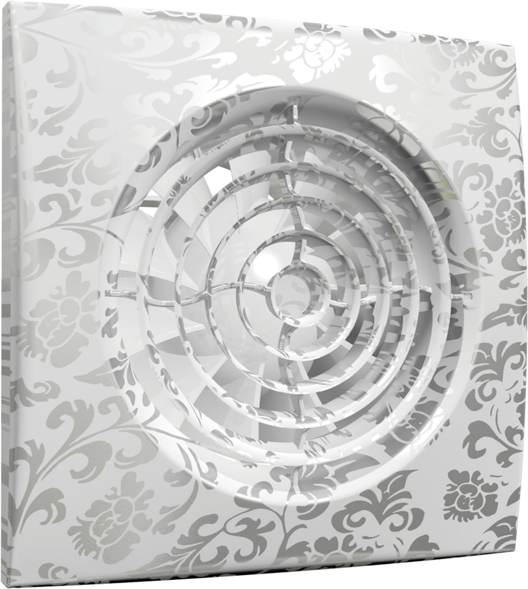 DiCiTi Aura 4C white design вентилятор осевой вытяжнойAURA 4C white designМалошумный осевой вытяжной декоративный вентилятор DiCiTi Aura 4C White Design с обратным клапаном и диаметром фланца 100 мм. Автоматический обратный клапан, защищающий от обратной тяги, предотвращает проникновение запахов, влаги из вентиляционного канала. Станет как оригинальным дополнением, так и ярким акцентом в интерьере любых комнат и помещений.Используется для постоянной или периодической вытяжной вентиляции санузлов, душевых, кухонь и других бытовых помещений. Монтаж осуществляется в вентиляционные шахты или соединения с воздуховодами.Корпус и крыльчатка выполнены из высококачественного и прочного ABS-пластика, стойкого к ультрафиолету. Конструкция крыльчатки позволяет повысить эффективность вентилятора и срок службы двигателя.Установлен двигатель на шарикоподшипниках с увеличенным сроком службы (до 40 000 рабочих часов) и низким энергопотреблением. Оснащен защитой от перегрева.