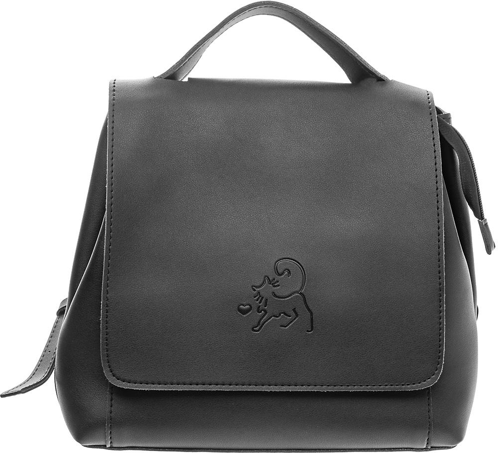 Рюкзак женский Keddo, цвет: черный. 387114/01-01387114/01-01Женский рюкзак Keddo выполнен из экокожи.Модель закрывается на клапан с кнопкой. Рюкзак оснащен регулируемыми плечевыми лямками и короткой ручкой.