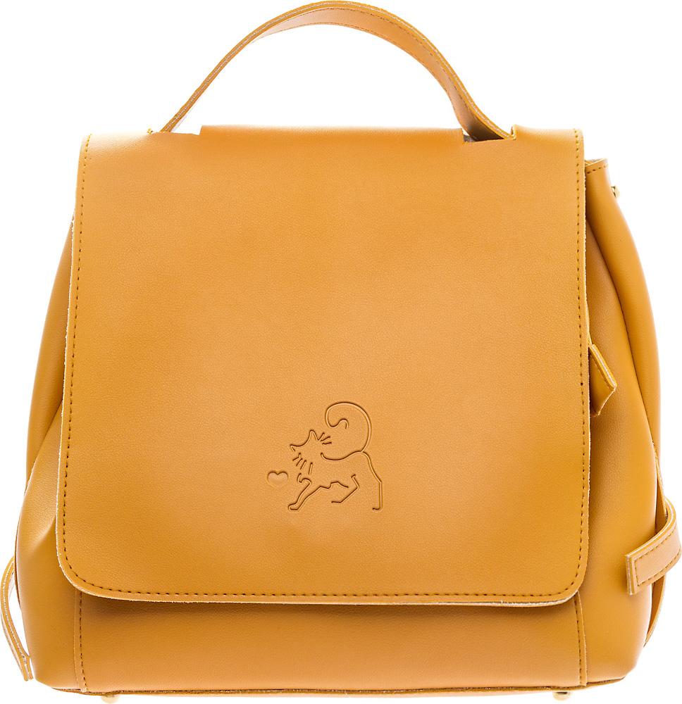 Рюкзак женский Keddo, цвет: кэмел. 387114/01-03387114/01-03Женский рюкзак Keddo выполнен из экокожи.Модель закрывается на клапан с кнопкой. Рюкзак оснащен регулируемыми плечевыми лямками и короткой ручкой.