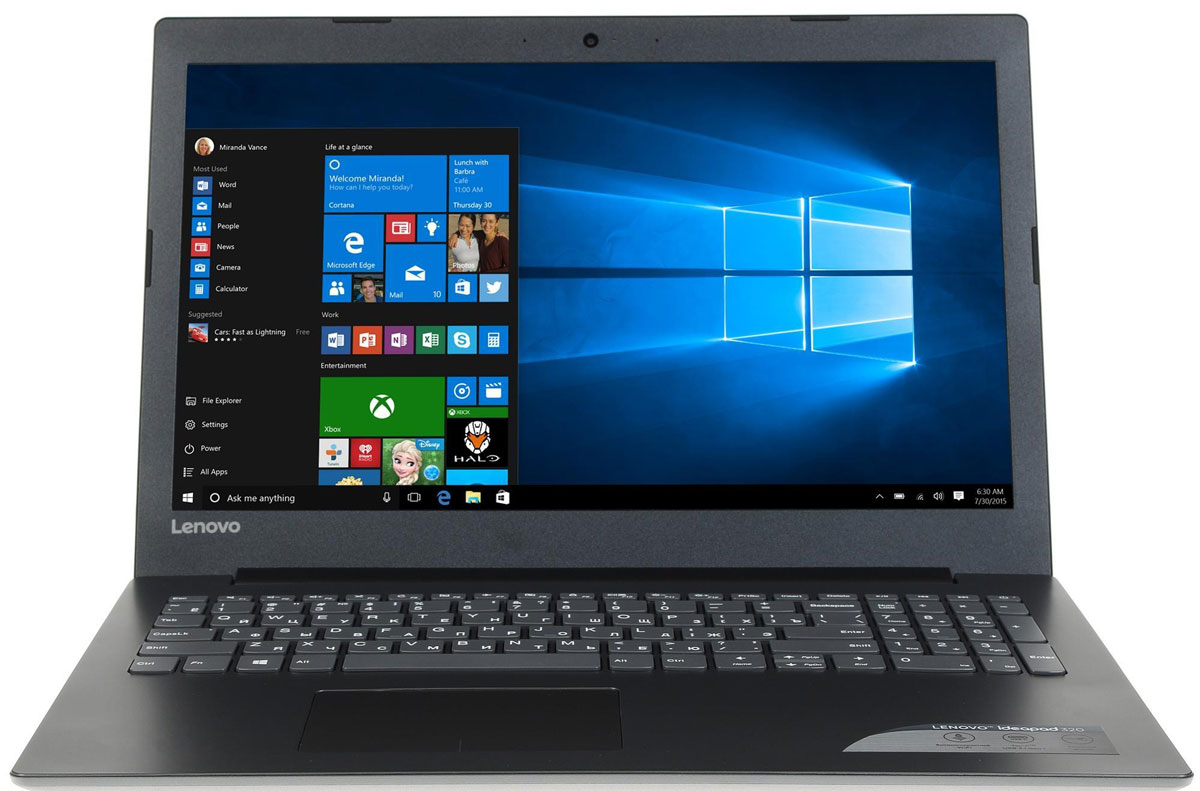 Lenovo IdeaPad 320-15IKB, Onyx Black (80YE009ERK) lenovo ideapad 100 15ibd [80qq000krk] black 15 6 hd i5 5200u 4gb 500gb dvdrw gf920m 1gb dos