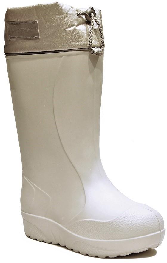 Сапоги зимние женские Дарина Барбара, цвет: жемчужный. Размер 38-39Д404/38-39розовыйСапоги зимние женские из ЭВА выдерживает низкие температуры вплоть до -60 и не растрескивается. Сапоги снабжены утеплителем.Антискользящая подошва.Сырье продукта ЭВА. Материал подошвы: ЭВА. Cостав текстильного элемента: люверсы, шнурок, фиксатор, кант светоотражающий, шеврон. Название ткани: Bonn + ППУ. Свойства ткани Bonn -качественная курточная ткань саржевого переплетения с фактурным рубчиком. Обработки WR и Cire обеспечивают материал водозащитностью и устойчивостью к загрязнениям. Рулонный пенополиуретан (ППУ) широко используется в обувной промышленности. Светоотражающий элемент: кант светоотражающий, шеврон. Съёмный. Кол-во слоев: 5. Вид ткани многослойное каркасное полотно с ламинированной, металлизированной пленкой из полиэстера или льняного волокна + мех на трикотажной основе. Состав ткани: полиэстер, металлизированная фольга, сетка, мех (20% овечья шерсть + 80% полиэстер), Оксфорд плотность 600. Швы 0,5-0,7. Технология шва: стачной шов с обметанным срезом, окантовка верхнего среза тесьмой.