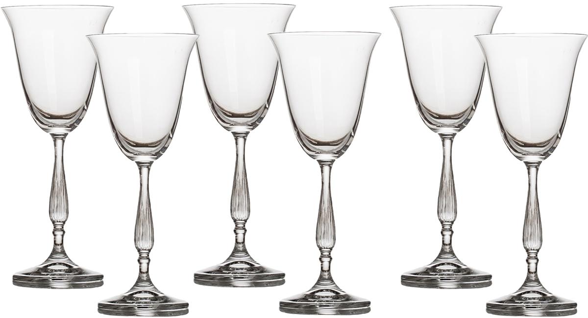 Набор бокалов для вина Crystalite Bohemia Антик, 185 мл, 6 шт набор бокалов для бренди 6 шт crystalite bohemia набор бокалов для бренди 6 шт