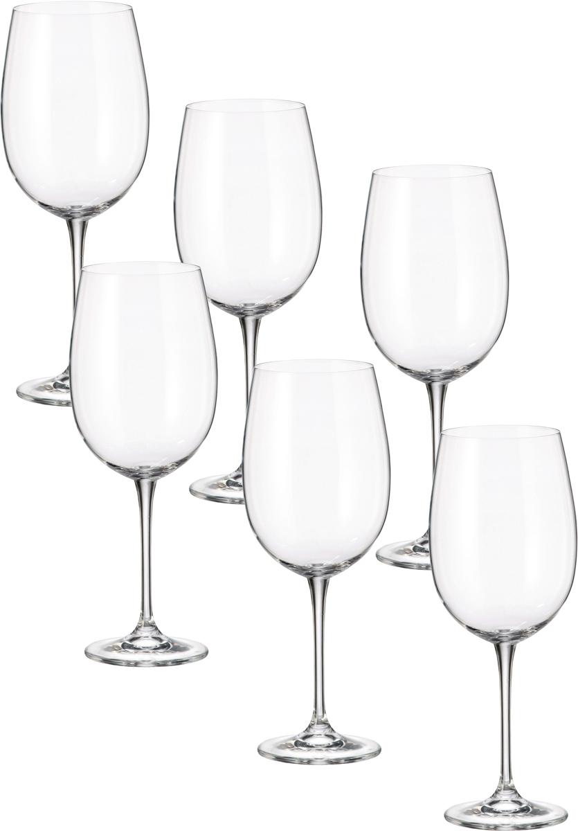 Набор бокалов для вина Crystalite Bohemia Эста, 640 мл, 6 шт набор бокалов для бренди 6 шт crystalite bohemia набор бокалов для бренди 6 шт