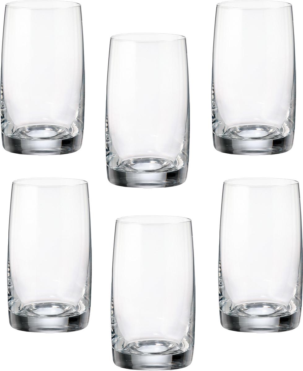 Набор стаканов для воды Crystalite Bohemia Идеал, 250 мл, 6 шт25015`250`43082Декорация в технологии Травление, классика в каждой линии!