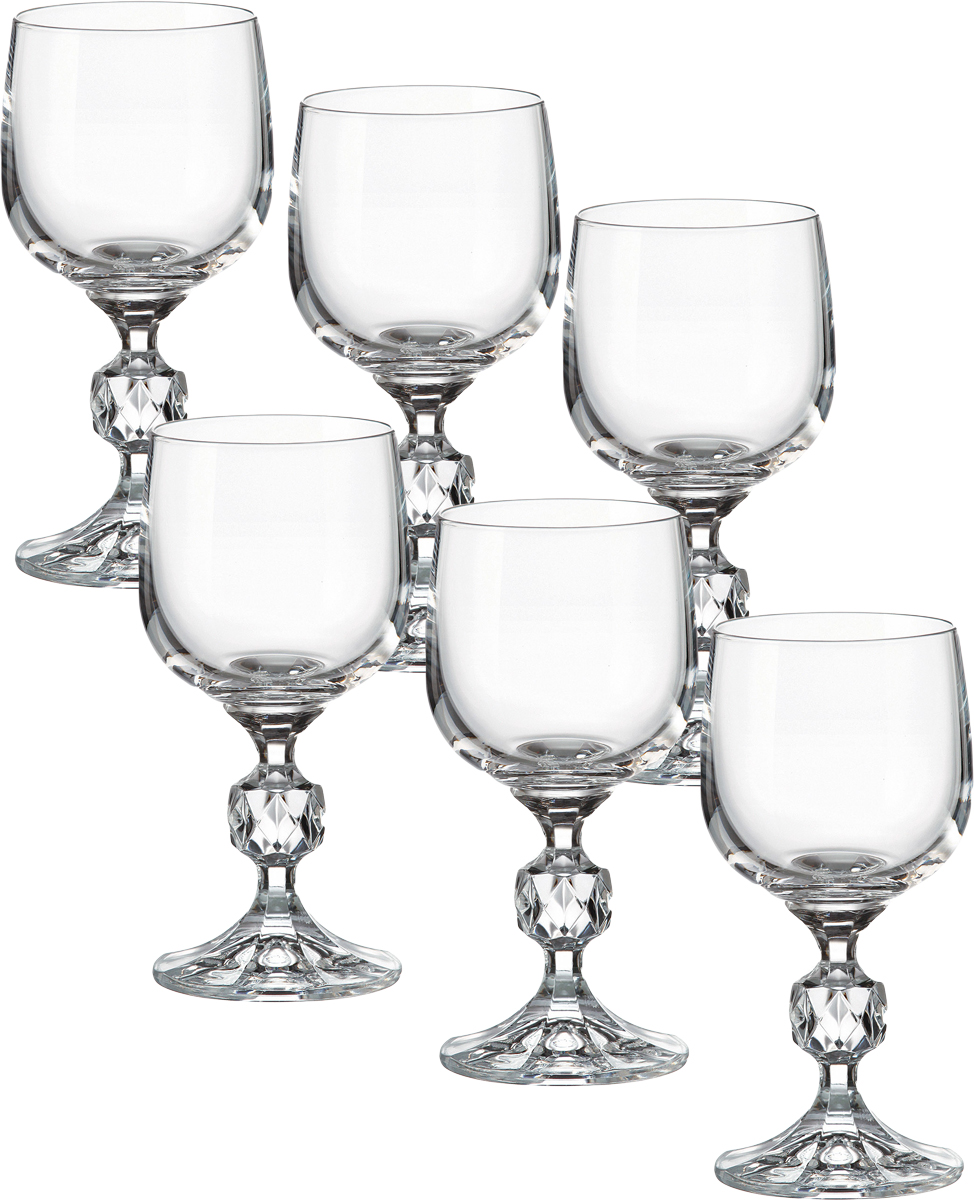 Набор бокалов для вина Crystalite Bohemia Клаудия, 150 мл, 6 шт 40149`15040149`150Набор бокалов для вина Crystalite Bohemia Клаудия пригодится для любого торжества.В наборе 6 бокалов из выдувного стекла.Высокое качество, красивый блеск, прозрачность.Такой набор бокалов станет прекрасным подарком на любой праздник.