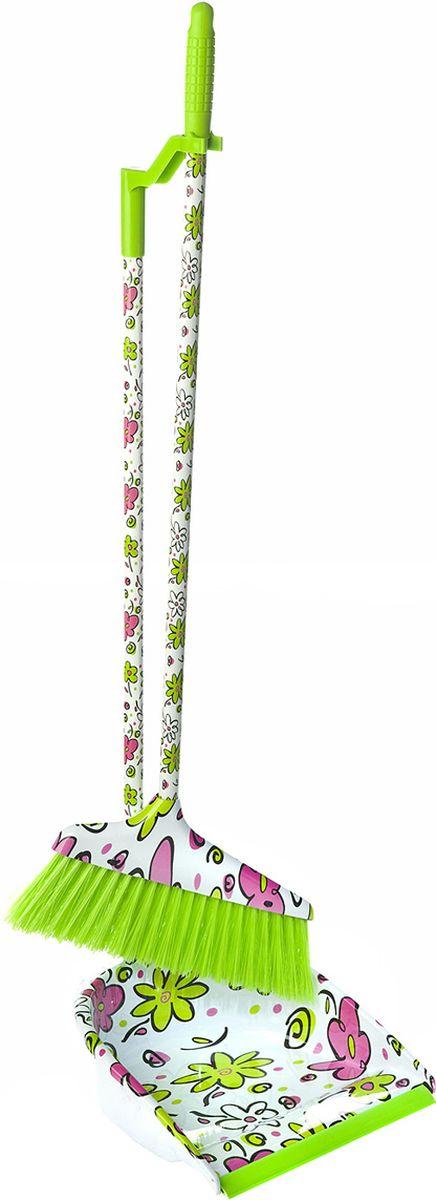 Набор для уборки You'll love, цвет: зеленый, 2 предмета набор для вышивания бисером аквилегия с паспарту 18 см х 24 см 76 бп
