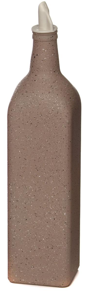 Бутыль для масла Remmy Home, 1 л500026Оригинальная и практичная бутылка для масла Remmy Home, выполненная из стекла, не только поможет хранить масло, но и стильно дополнит интерьер вашей кухни. Она легка в использовании: благодаря пластиковой крышке с дозатором вы с легкостью сможете добавить в блюдо оливковое или подсолнечное масло, уксус или соус, не снимая пробку.