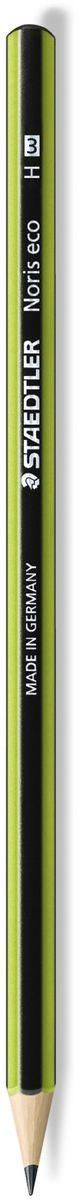Staedtler Карандаш чернографитовый Noris Eco твердость H18030-HЧернографитовый карандаш Noris eco в классическом черно-зеленом корпусе . Изготовлен из уникального природного материала Wopex (70% древесины+ 30% пластиковый композит). Однородный материал WOPEX обеспечивает исключительно гладкую и ровную заточку. При производстве используется PEFC-сертифицированная древесина из постоянно возобновляемых лесов. Степень твердости - H (твердый). Диаметр грифеля - 2 мм. Нескользящая, ударопрочная, бархатистая поверхность; эргономичная шестигранная форма корпуса; гладкое письмо; длина письма в два раза больше, чем у обычного карандаша в деревянном корпусе.