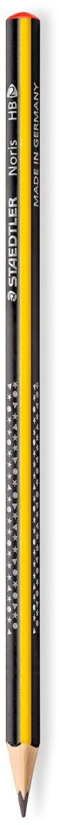 Staedtler Карандаш чернографитовый Noris твердость HB183-HBЧернографитовый карандаш Noris 183, в черно- желтом корпусе. Привлекательный дизайн Звезды с полем для имени. Трехгранная эргономичная форма для удобного письма, черчения и рисования. Изготовлен из уникального природного материала Wopex (70% древесины + 30% пластиковый композит). Однородный материал WOPEX обеспечивает исключительно гладкую и ровную заточку. При производстве используется PEFC-сертифицированная древесина из постоянно возобновляемых лесов. Степень твердости - HB (твердо-мягкий). Диаметр грифеля - 2 мм. Нескользящая, ударопрочная, бархатистая поверхность; гладкое письмо; длина письма в два раза больше, чем у обычного карандаша в деревянном корпусе.