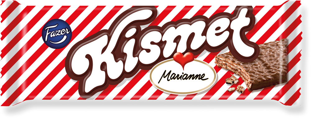 Fazer Kismet Вафля в плитках с начинкой из какао с мятным вкусом, глазированная молочным шоколадом, 55 г конфеты fazer salmiakki 40g