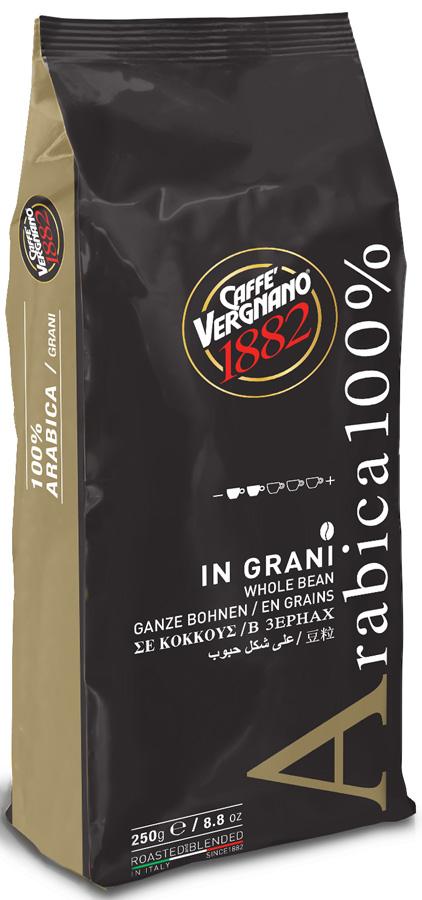 Vergnano Arabica кофе в зернах, 250 г