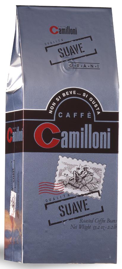 Camilloni Suave кофе в зернах, 1 кг8009785101706Натуральный кофе Camilloni Suave, классической итальянской обжарки, славится своим богатым, изысканным вкусом и насыщенным ароматом. Состав: арабика (85%), робуста (15%)