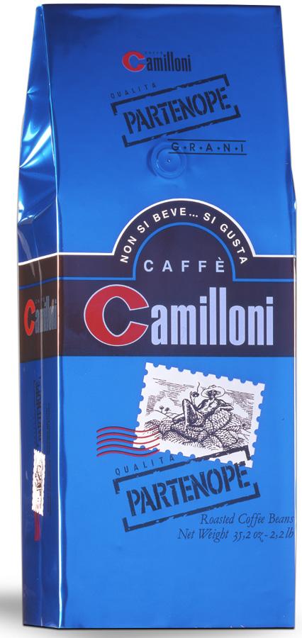 Camilloni Partenope кофе в зернах, 1 кг8009785102710Благодаря сочетанию отборных кофейных зерен арабики (80%) и робусты (20%), Натуральный кофе Camilloni Partenope идеально подходит для приготовления настоящего эспрессо достойный кофейни высокого класса.