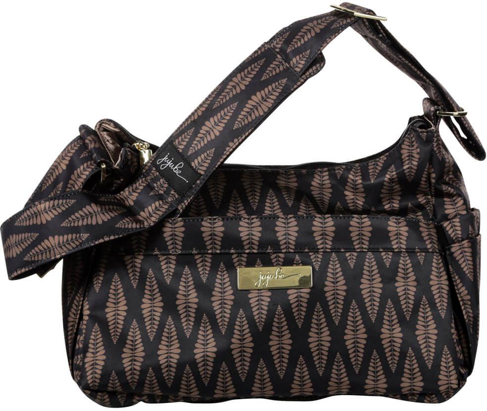 Ju-Ju-Be Сумка для мамы HoboBe цвет коричневый черный 13HB01L-9502 сумка для мамы ju ju be hobobe pink pinwheels 12hb01a 8737