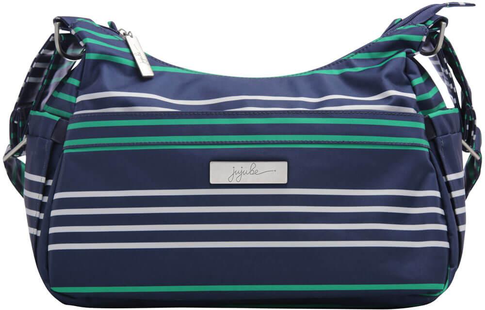 Ju-Ju-Be Сумка для мамы HoboBe цвет зеленый синий 16HB01P-0638 сумка для мамы ju ju be hobobe pink pinwheels 12hb01a 8737
