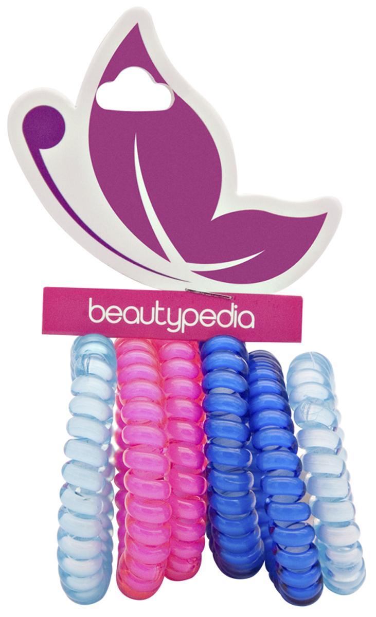 Beautypedia Набор резинок для волос, цвет: розовый, синий, бирюзовый, 6 шт6900888200117Яркие и модные резинки Beautypedia, благодаря своей форме не перетягивает волосы и не оставляет на них заломов, что очень важно для здоровья волос. Пружинка легко снимается с волос, так как поверхность ее идеально гладкая, а значит не выдергивает и не ломает волосы. Эта стильная резинка отлично держит волосы собранные в хвост или пучок, при этом не перетягивая и не вызывая дискомфорта. Резинка позволяет самостоятельно сделать множество различных причесок на любой случай, от обычного хвостика до красивых вечерних укладок. Продукт износостойкий и долговечный. Резинки сделаны из экологически чистых материалов.